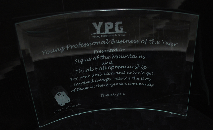 Young Professionals Business of the Year Award - Signs of the Mountains and Think Entrepreneurship