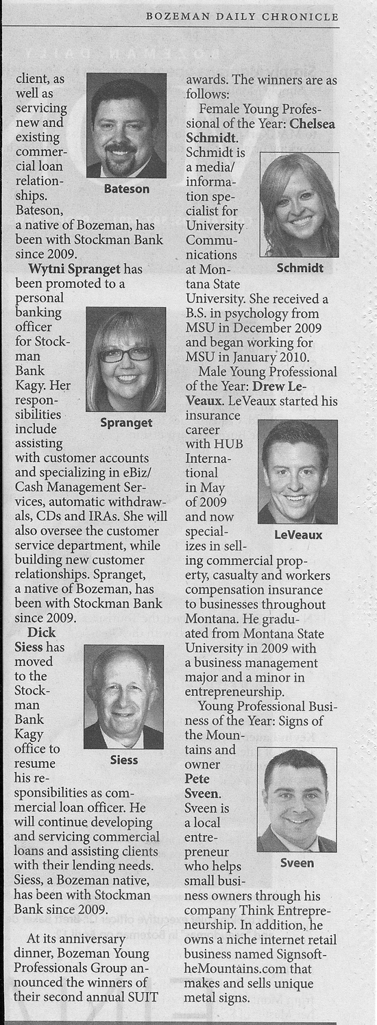 Bozeman Young Professionals Business of the Year