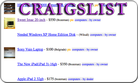 Entrepreneur ideas for College Students - Buy and Sell on Craigslist