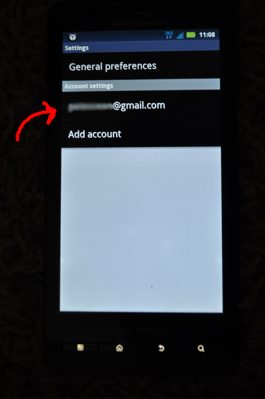 Gmail Settings on Smart Phone