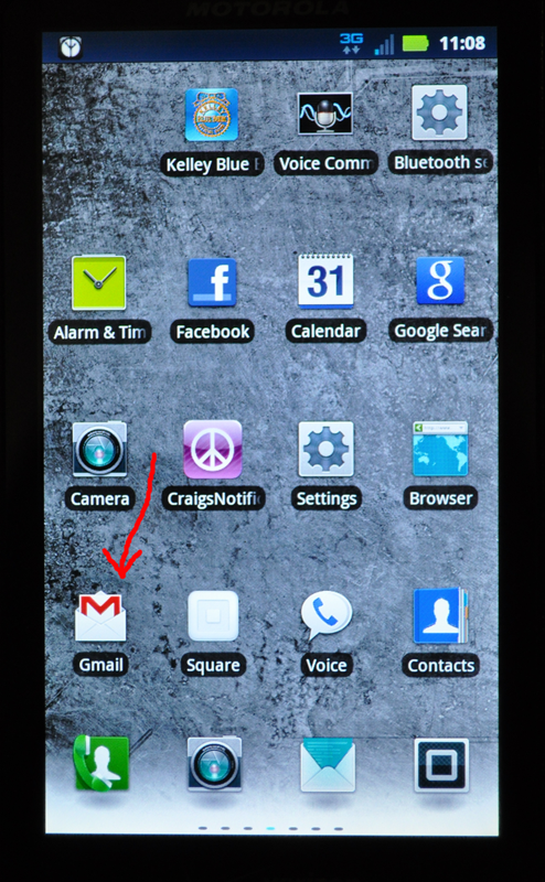 Gmail Application on SmartPhone
