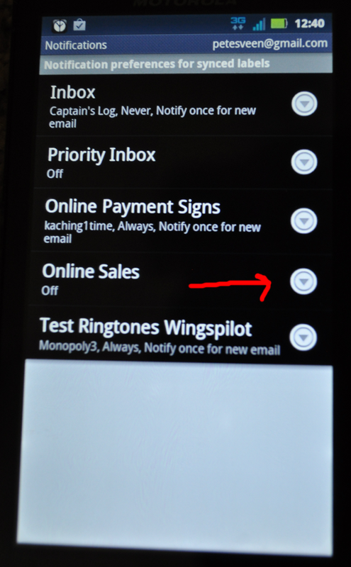 Setting Up Gmail Email Ringtone