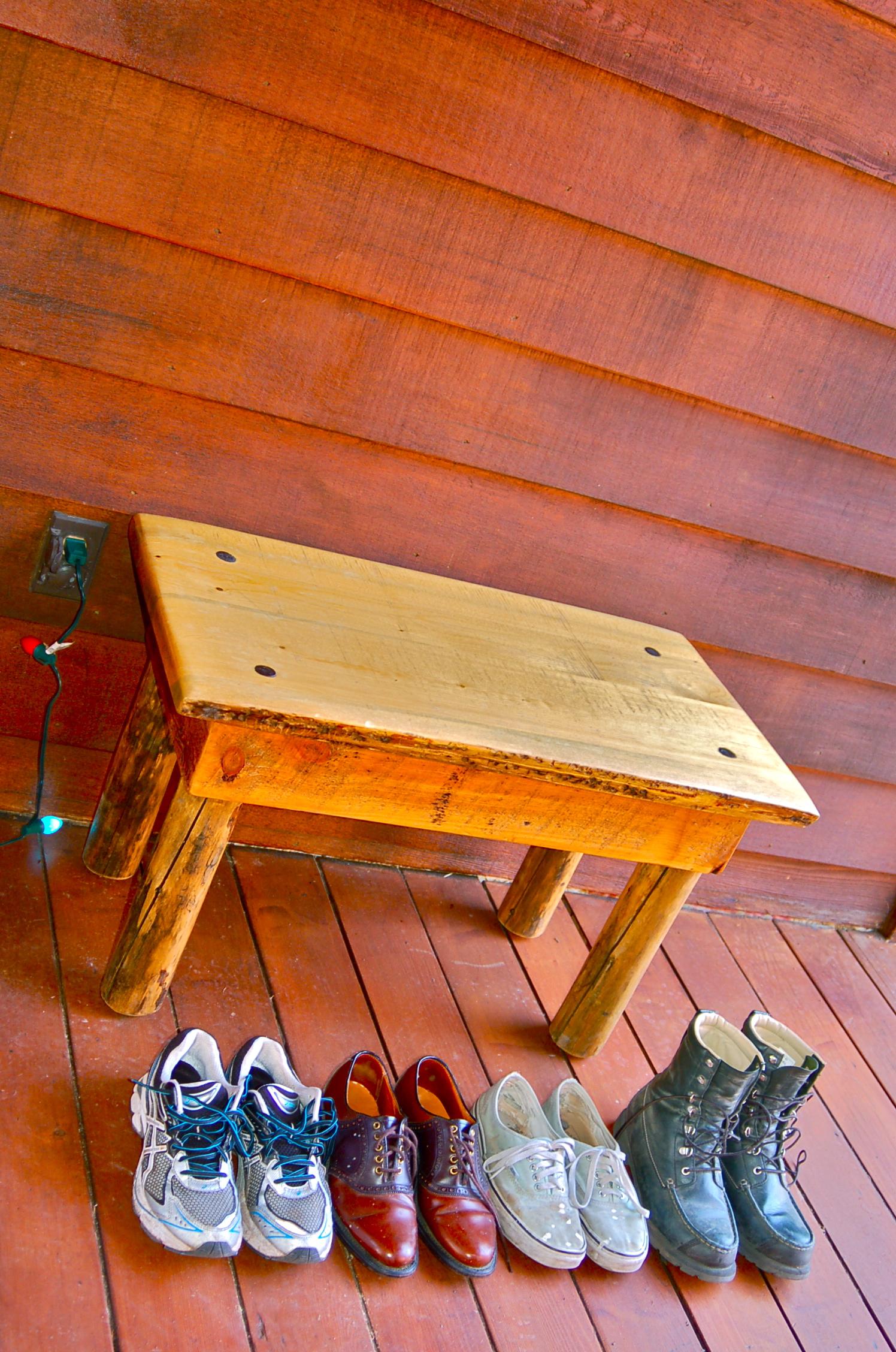 My shoe bench
