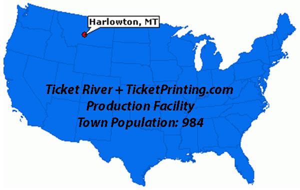 Harlowton Montana Map - TicketPrinting.com - Montana Entrepreneurs - Bozeman Entrepreneurs