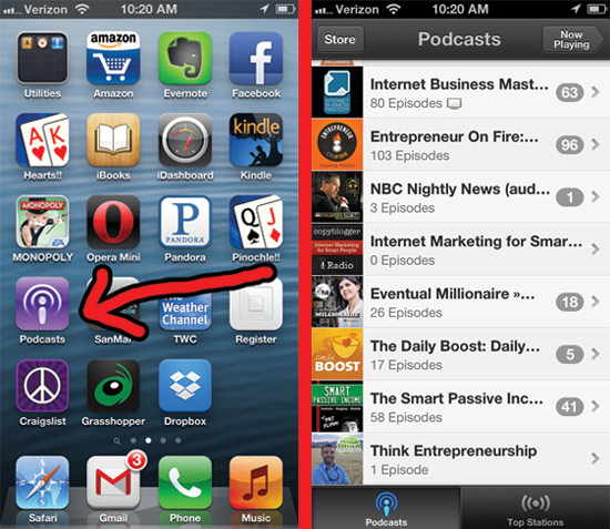 Apps for podcasts