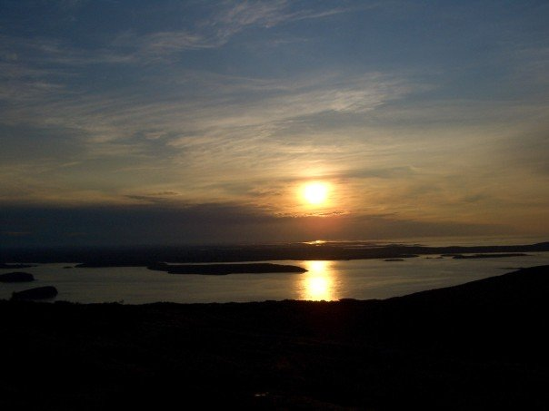 Sunrise from Cadillac Mountain - Maine