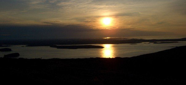 Sunrise from Cadillac Mountain in Maine