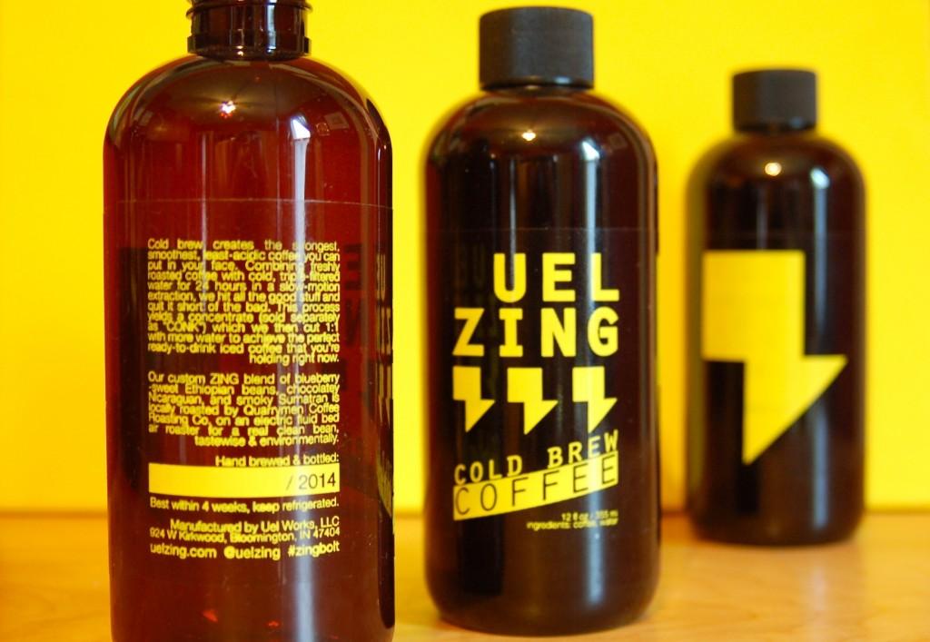 UEL ZING coffee - bottles perspective