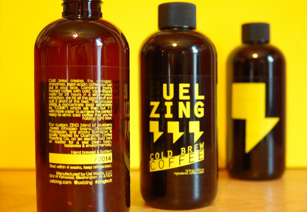 UEL ZING coffee - bottles perspective