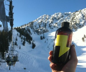 UEL ZING coffee - ski mountain bottle