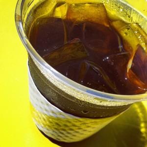 UEL ZING iced coffee closeup