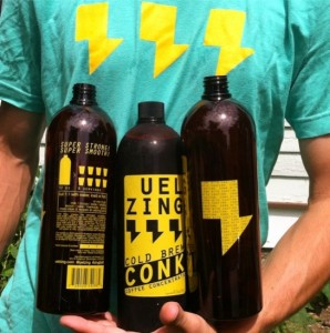 UEL ZING COFFEE - Conk Bullets and ZING shirt