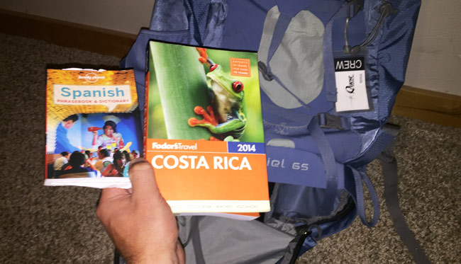 Backpack for Costa Rica