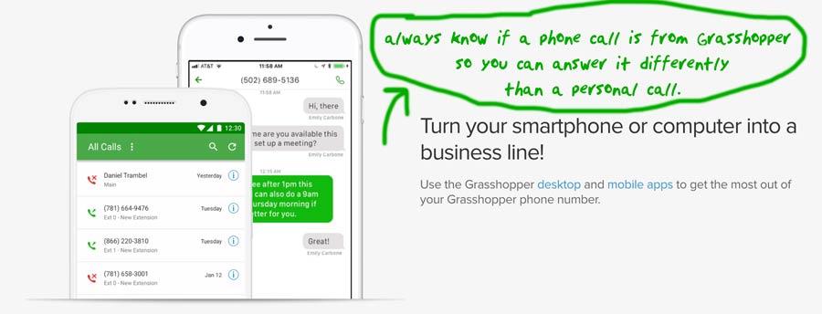 Grasshopper.com Phone App