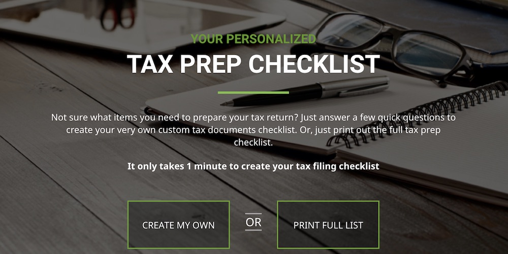 H&R Block tax software for entrepreneurs checklist