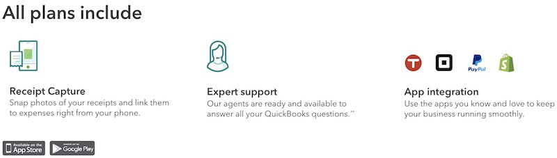 Quickbooks vs Freshbooks All Plans Include