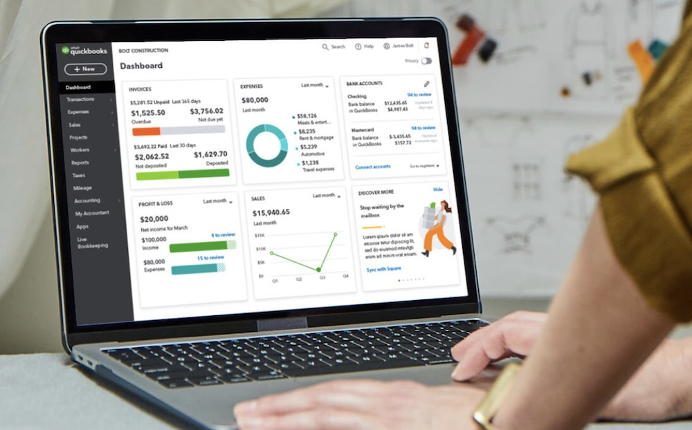 Quickbooks vs Freshbooks Dashboard