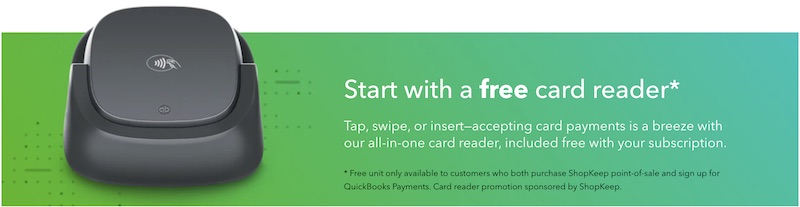 Quickbooks vs Freshbooks Point of Sale card reader