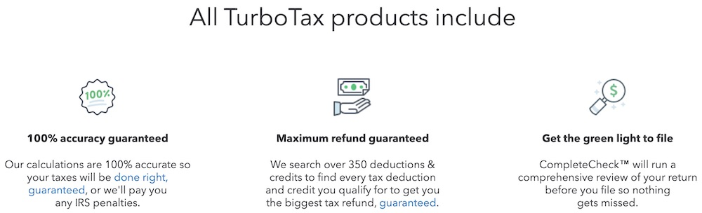 TurboTax tax software for entrepreneurs products included