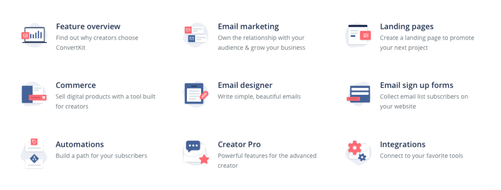 ConvertKit email marketing features